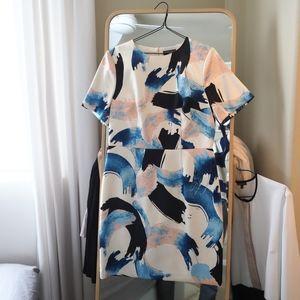 Warehouse Dresses - Warehouse Brushstroke Print Dress